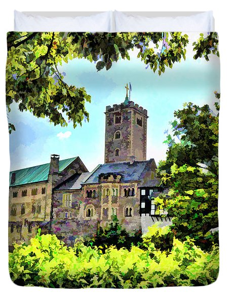 Duvet Cover featuring the photograph Wartburg Castle - Eisenach Germany - 1 by Mark Madere