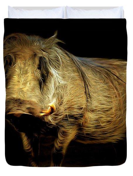 Warthog 20150210brun Duvet Cover
