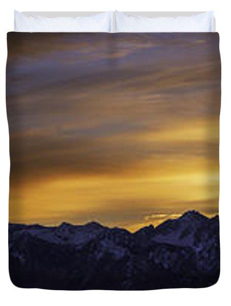 Wasatch Dawn Duvet Cover