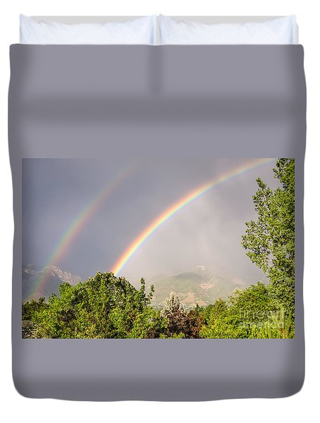 Wasatch Rainbow Duvet Cover