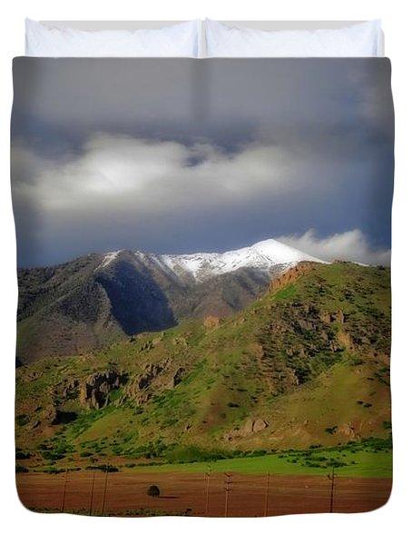 Wasatch Range In Utah Duvet Cover