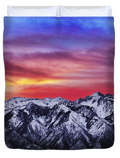 Wasatch Sunrise 2x1 Duvet Cover