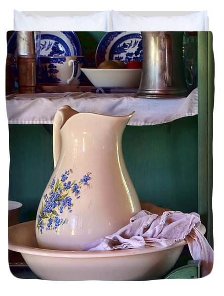 Wash Basin Still Life Duvet Cover by Nikolyn McDonald