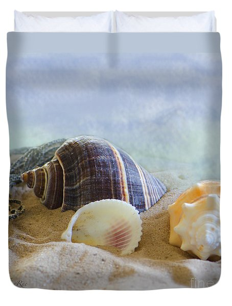 Washed Ashore Duvet Cover by Betty LaRue