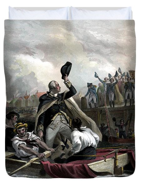 Washington Bids Adieu To His Generals  Duvet Cover by War Is Hell Store
