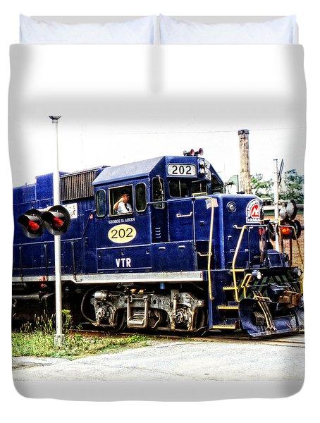 Washington County Railroad Duvet Cover by Mike Martin