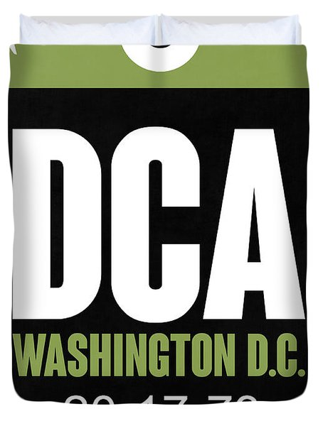 Washington D.c. Airport Poster 2 Duvet Cover