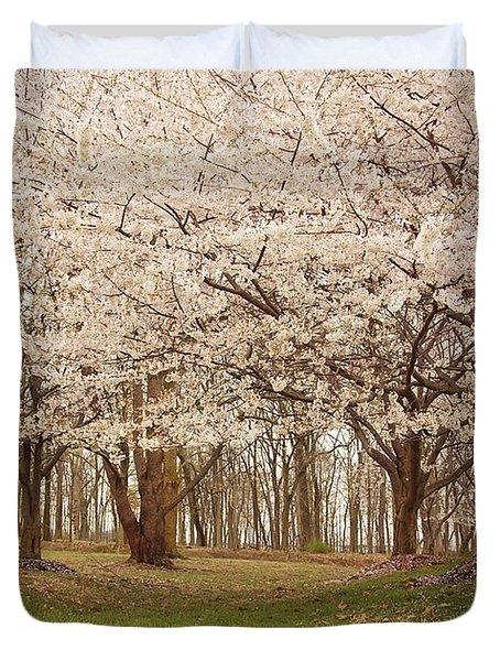 Washington Dc Cherry Blossoms Duvet Cover