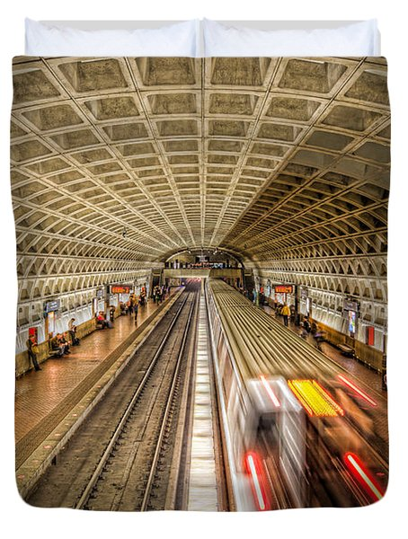 Washington Dc Metro Station Xi Duvet Cover by Clarence Holmes