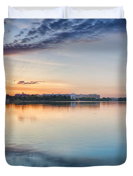 Duvet Cover featuring the photograph Washington Dc Panorama by Sebastian Musial