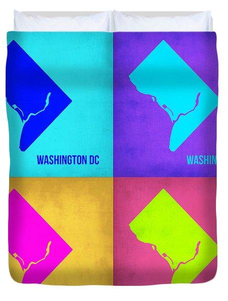 Washington Dc Pop Art Map 1 Duvet Cover