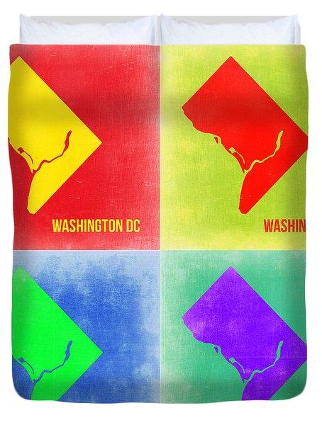 Washington Dc Pop Art Map 2 Duvet Cover