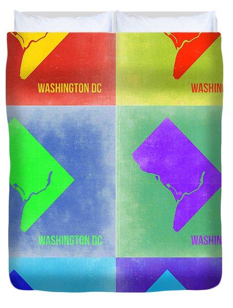 Washington Dc Pop Art Map 3 Duvet Cover