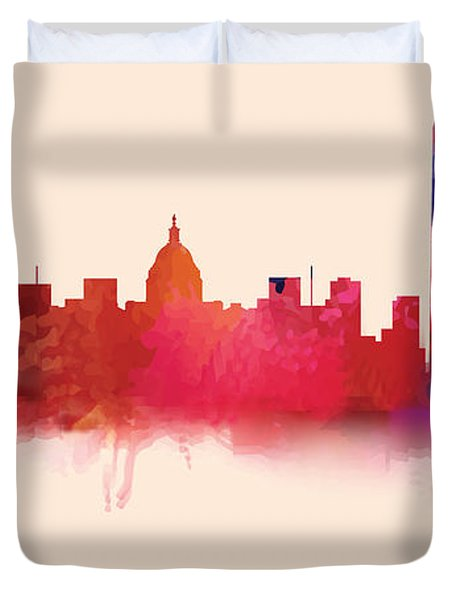 Washington Dc Skyline I Duvet Cover
