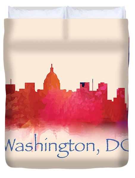 Washington Dc Skyline II Duvet Cover