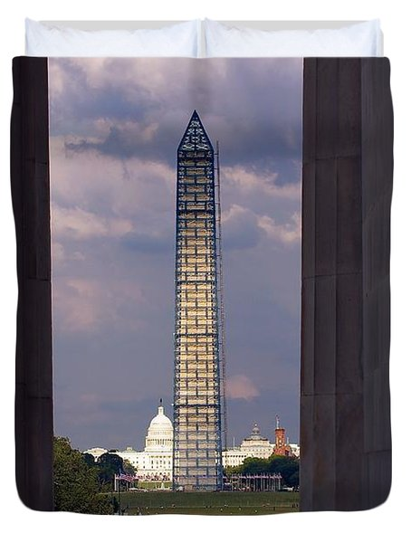 Washington Monument And Capitol 2 Duvet Cover