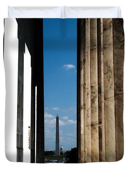 Washington Monument Color Duvet Cover by Angela DeFrias