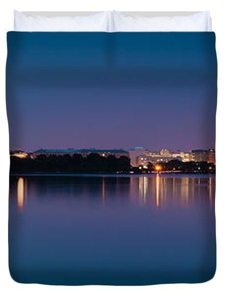 Duvet Cover featuring the photograph Washington Skyline by Sebastian Musial