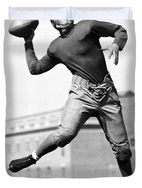 Washington State Quarterback Duvet Cover