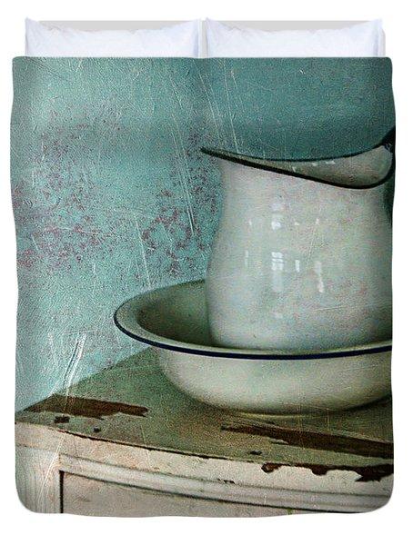Washstand Still Life Duvet Cover by Nikolyn McDonald