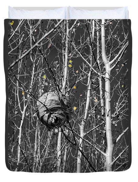 Wasp Nest In Aspen Duvet Cover