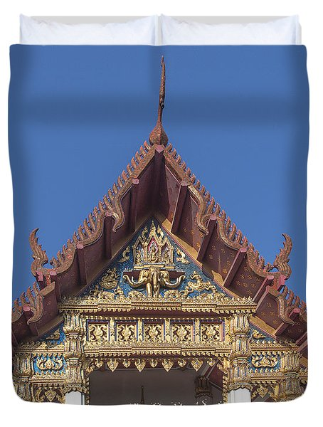 Wat Amarintaram Ubosot Gable Dthb1509 Duvet Cover
