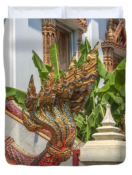 Wat Dokmai Phra Ubosot Stair Naga Dthb1783 Duvet Cover