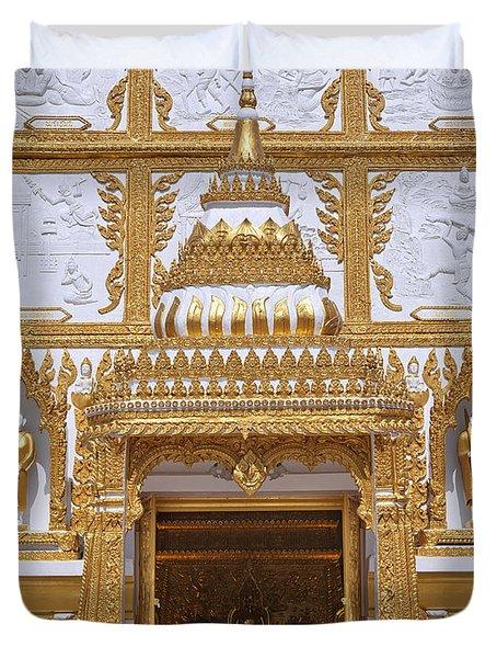 Wat Nong Bua Door Of Main Stupa Dthu448 Duvet Cover by Gerry Gantt