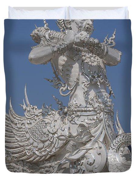 Wat Rong Khun Ubosot Causeway Guardian Dthcr0007 Duvet Cover