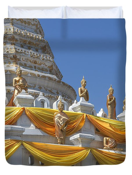 Wat Songtham Phra Chedi Buddha Images Dthb1916 Duvet Cover