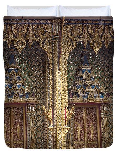 Wat Thung Setthi Ubosot Window Dthb1550 Duvet Cover