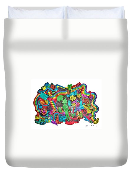 Watch Out Duvet Cover by Chelsea Geldean