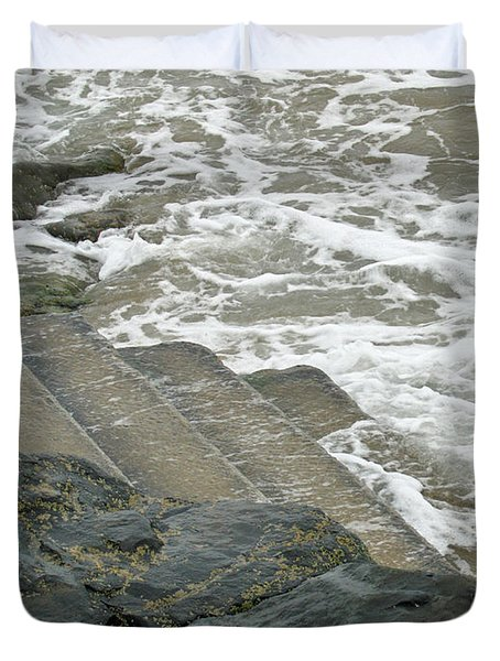 Duvet Cover featuring the photograph Watch Your Step by Brenda Brown