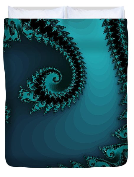 Duvet Cover featuring the digital art Watchers On The Chalcedony Slide by Elizabeth McTaggart