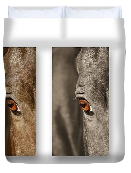 Watchful Triptych Duvet Cover
