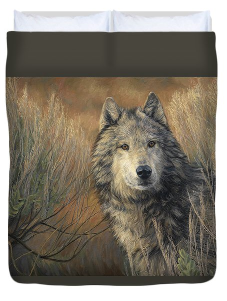 Watchful Duvet Cover by Lucie Bilodeau