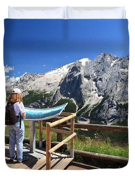 watching Marmolada mount Duvet Cover by Antonio Scarpi