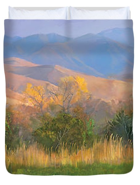 Watching The Field  Duvet Cover by Rob Corsetti