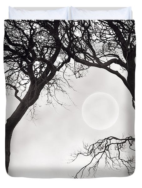 Watching The Moon Duvet Cover by Lee Avison