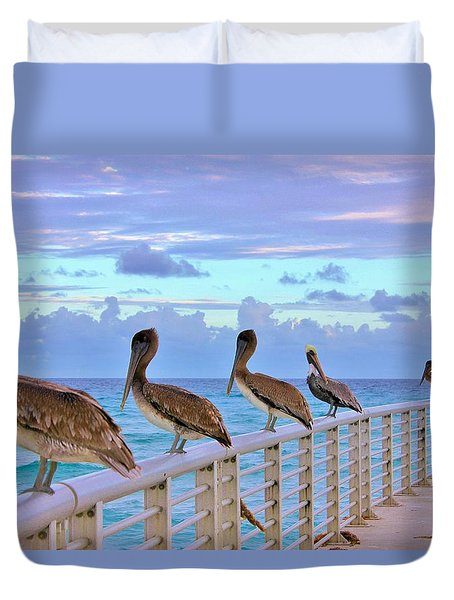 Watching The Ocean Duvet Cover