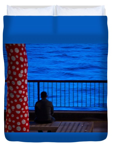 Watching The River Duvet Cover