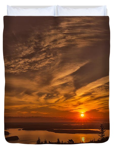 Watching The Sunrise Duvet Cover