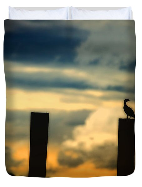 Watching The Sunrise Duvet Cover by Karol Livote