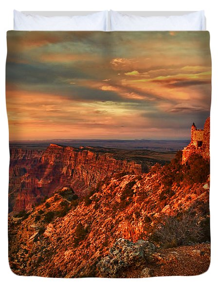 Watchtower Sunset Duvet Cover by Priscilla Burgers