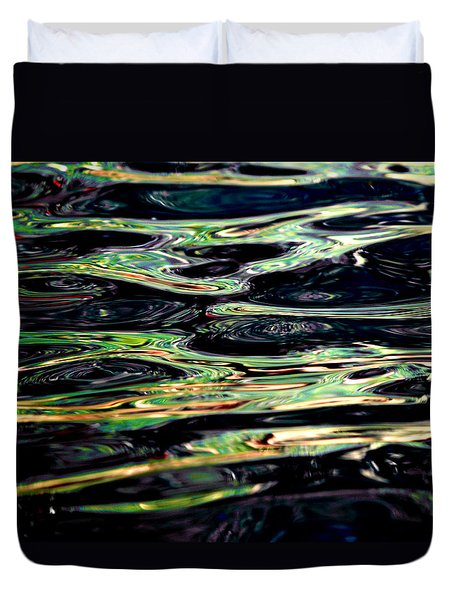 Water Abstract Duvet Cover by Bill Gallagher