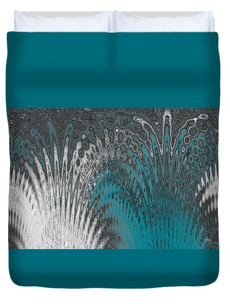 Water And Ice - Blue Splash Duvet Cover by Ben and Raisa Gertsberg