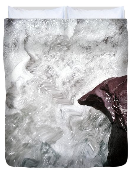 Water And The Rock Duvet Cover