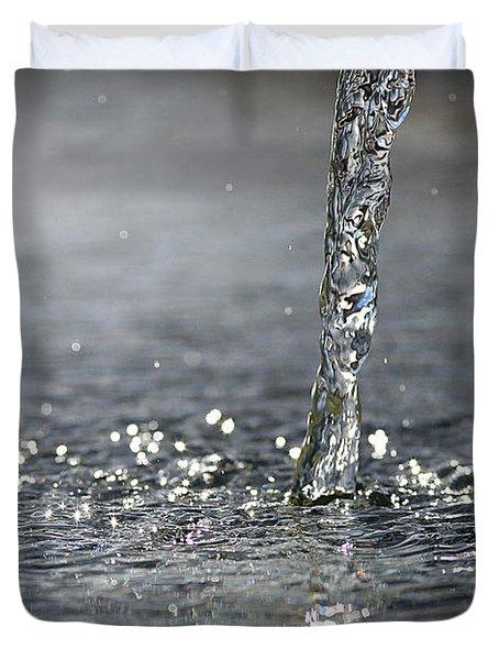 Water Beam Splashing Duvet Cover