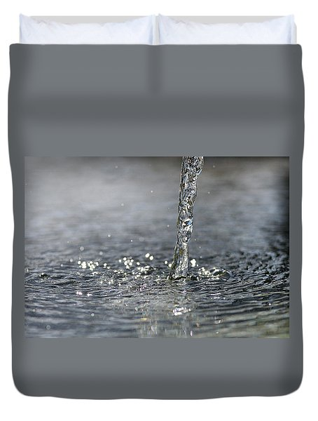 Water Beam Splashing Duvet Cover