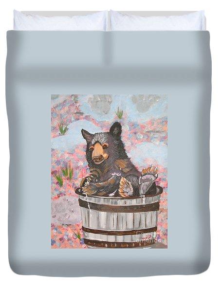 Water Bear Duvet Cover by Phyllis Kaltenbach